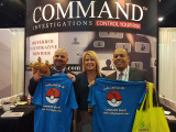 Command Investigations handing out shirts at the WCI Workers' Compensation Conference