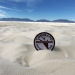 The White Sands National Monument is known for its dramatic landscape of rare white gypsum sand dunes.