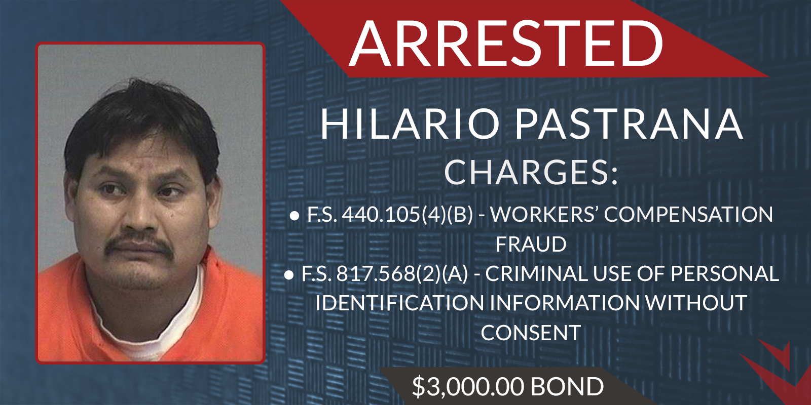 Hilario Pastrana Arrested