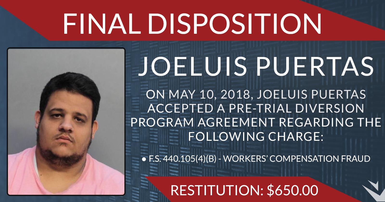 Joeluis Puertas Final Disposition