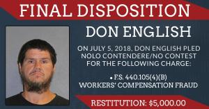 Don English pleads no contest