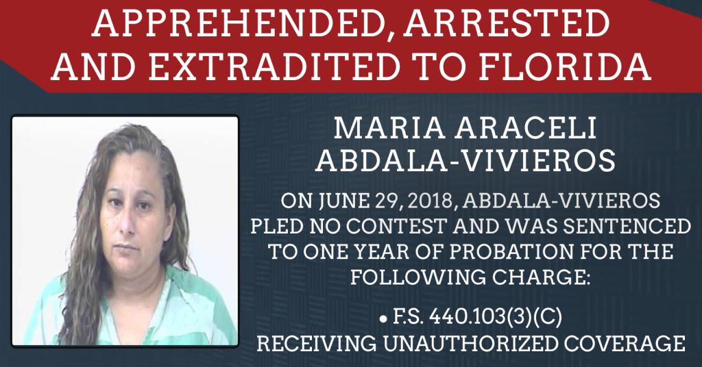 Maria Abdala-Vivieros enters no contest plea