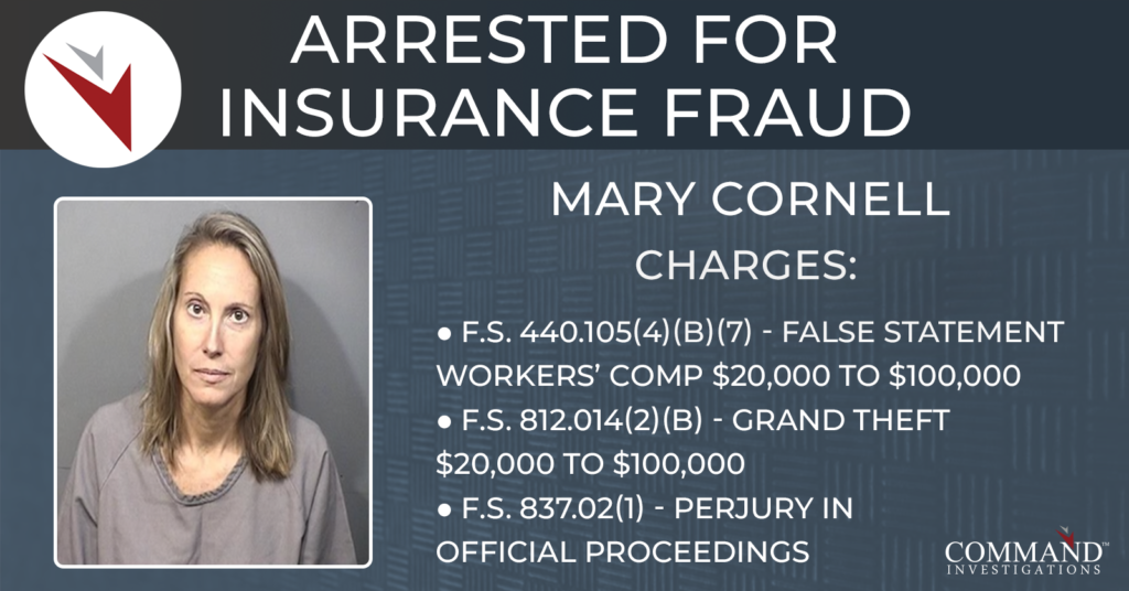 Mary Cornell arrested for insurance fraud