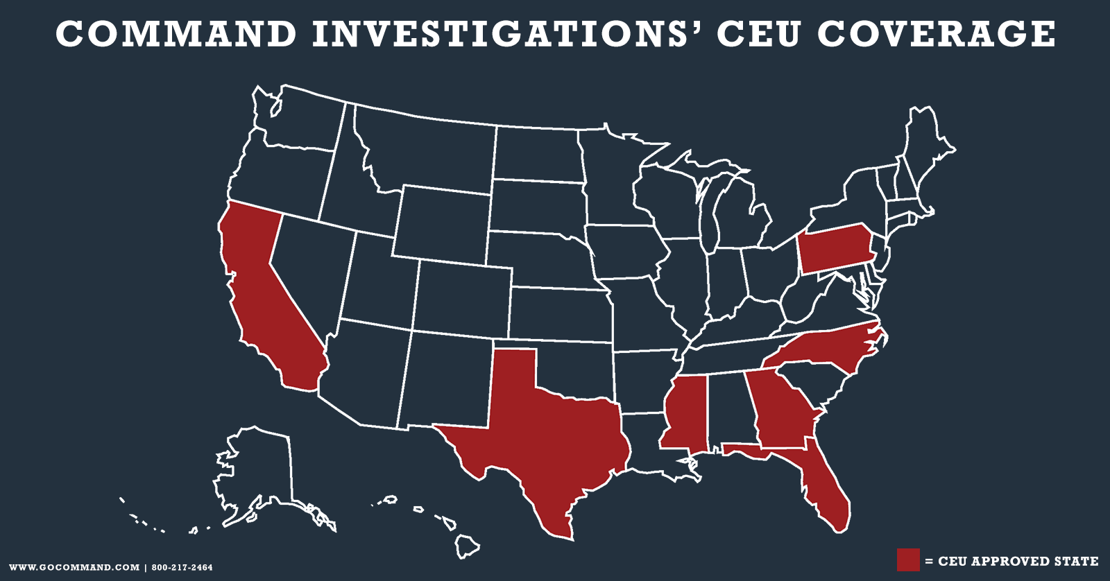 Command Investigations expands CEU coverage, adds North Carolina and Mississippi