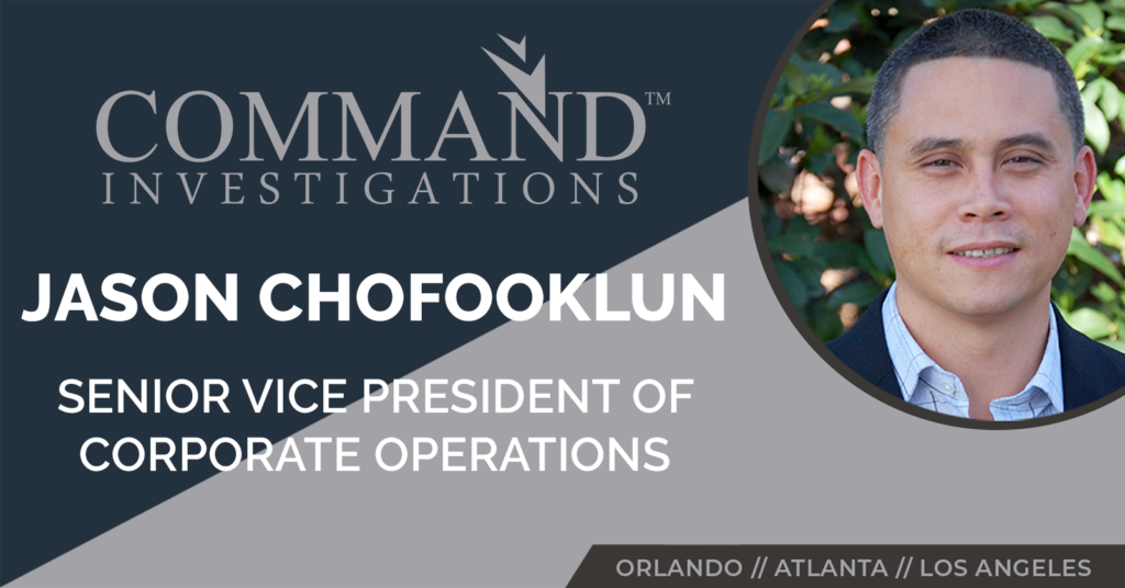 Jason Chofooklun Promoted to Senior Vice President of Corporate Operations