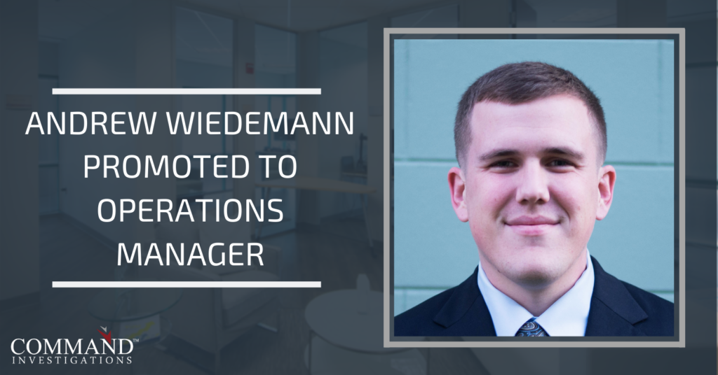 Andrew Wiedemann Promoted to Operations Manager