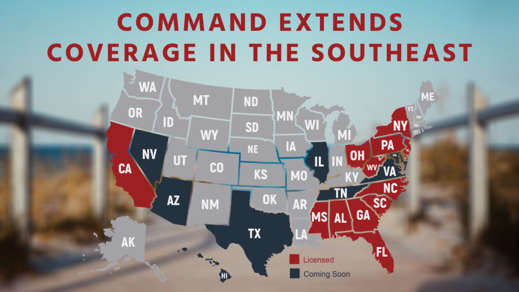 Command extends coverage in the Southeast